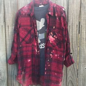 Upcycled light bleached flannel size large